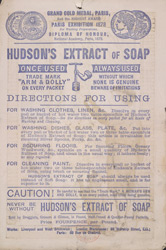 Advert For Hudson's Extract Of Soap reverse(014EVA000000000U06135V00)